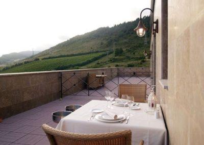terraza suit Hotel Villava Pamplona